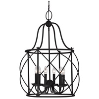 Spark & Spruce 23794-B Sheffield 6 Light 22 inch Blacksmith Hall/Foyer Pendant Ceiling Light