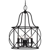 Spark & Spruce 23634-B Sheffield 8 Light 30 inch Blacksmith Hall/Foyer Pendant Ceiling Light