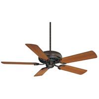 Spark & Spruce 25121-EB Custer 52 inch English Bronze with Walnut/Teak Blades Ceiling Fan