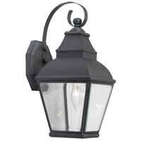 Spark & Spruce 20448-CB Cecilia 1 Light 15 inch Charcoal Outdoor Sconce