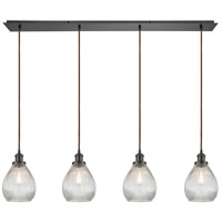 Spark & Spruce 24653-ORCR Sophie 4 Light 46 inch Oil Rubbed Bronze Mini Pendant Ceiling Light in Linear Linear