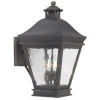 Spark & Spruce 23491-CW Bamboo 2 Light 17 inch Charcoal Outdoor Sconce