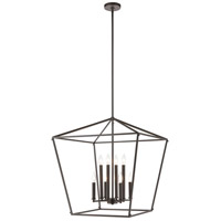 Spark & Spruce 24657-ORI Lawrence 8 Light 24 inch Oil Rubbed Bronze Pendant Ceiling Light