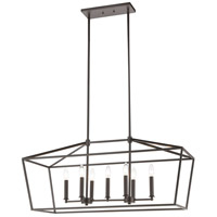 Spark & Spruce 24658-ORI Lawrence 7 Light 36 inch Oil Rubbed Bronze Island Light Ceiling Light
