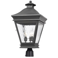 Spark & Spruce 23493-CW Bamboo 3 Light 22 inch Charcoal Post Mount