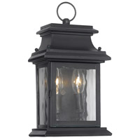 Spark & Spruce 23426-CW Rock 2 Light 14 inch Charcoal Outdoor Sconce