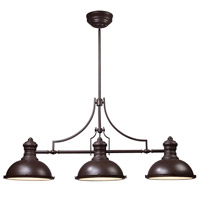 Spark & Spruce 24765-OB Sabrina 3 Light 47 inch Oiled Bronze Island Light Ceiling Light in Incandescent