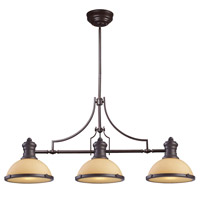 Spark & Spruce 23500-OBO Sabrina 3 Light 47 inch Oiled Bronze Island Light Ceiling Light in Incandescent