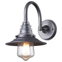 Spark & Spruce 24869-WZ Steele 1 Light 9 inch Weathered Zinc Sconce Wall Light