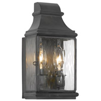 Spark & Spruce 20468-CW Guthrie 2 Light 11 inch Charcoal Outdoor Sconce
