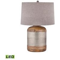 Spark & Spruce 20346-GSL Lance Drum 29 inch 9.5 watt Lance/Mango Wood Table Lamp Portable Light in LED
