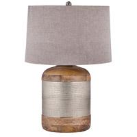 Spark & Spruce 20353-GS Lance 29 inch 150 watt Lance/Mango Wood Table Lamp Portable Light in Incandescent