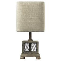 Spark & Spruce 24129-MG Shoshone 13 inch 40 watt Montauk Grey Table Lamp Portable Light