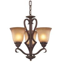 Spark & Spruce 20473-MAA Wren 3 Light 17 inch Mocha Chandelier Ceiling Light in Incandescent