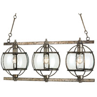 Spark & Spruce 25065-PB Frontenac 3 Light 36 inch Pyrite Bronze Chandelier Ceiling Light Lillian August Collection
