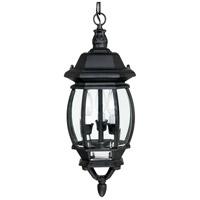 Spark & Spruce 24221-BCG Plantation 3 Light 8 inch Black Outdoor Hanging Lantern