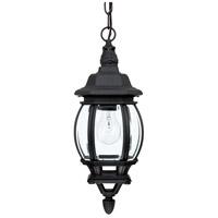 Spark & Spruce 24225-BCG Plantation 1 Light 7 inch Black Outdoor Hanging Lantern