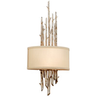 Spark & Spruce 23875-SL Camilla 2 Light 12 inch Silver Leaf Finish ADA Wall Sconce Wall Light in Incandescent