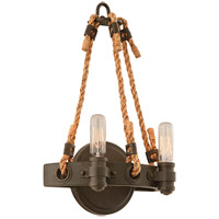 Spark & Spruce 20223-SB Bergen 2 Light 9 inch Shipyard Bronze Wall Sconce Wall Light