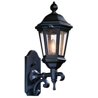 Spark & Spruce 23851-MBCS Clay 1 Light 18 inch Matte Black Outdoor Wall Lantern in Incandescent