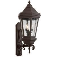 Spark & Spruce 23867-BCS Clay 3 Light 35 inch Bronze Outdoor Wall Lantern