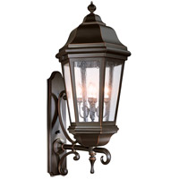 Spark & Spruce 23853-ABCS Clay 4 Light 44 inch Antique Bronze Outdoor Wall Lantern in Incandescent