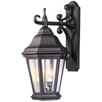 Spark & Spruce 23855-MBCS Clay 2 Light 22 inch Matte Black Outdoor Wall Lantern in Incandescent