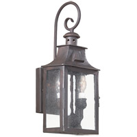 Spark & Spruce 20174-OBCS Ash 2 Light 18 inch Old Bronze Outdoor Wall Lantern in Incandescent