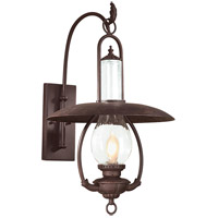 Spark & Spruce 20175-OBCS Frost 1 Light 27 inch Old Bronze Outdoor Wall Lantern