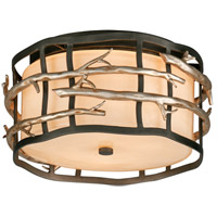 Spark & Spruce 20256-GA Camilla 2 Light 13 inch Graphite And Silver Flush Mount Ceiling Light in Incandescent