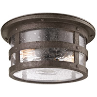 Spark & Spruce 20361-BB Rowena 2 Light 15 inch Rowena Bronze Outdoor Flush Mount in Incandescent