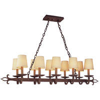 Spark & Spruce 20215-BS Houston 10 Light 47 inch Burnt Sienna Pendant Island Ceiling Light