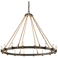 Spark & Spruce 20234-SB Bergen 16 Light 42 inch Shipyard Bronze Pendant Ceiling Light