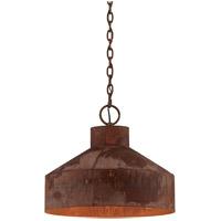 Spark & Spruce 20205-RP Cliff 3 Light 18 inch Rust Patina Pendant Ceiling Light