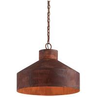 Spark & Spruce 20206-RP Cliff 4 Light 26 inch Rust Patina Pendant Ceiling Light