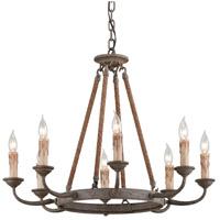Spark & Spruce 20156-EBI Codie 8 Light 28 inch Earthen Bronze Chandelier Ceiling Light