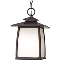 Spark & Spruce 24275-ORWO sumter 1 Light 8 inch Oil Rubbed Bronze Outdoor Hanging Lantern in Opal Etched Glass Standard