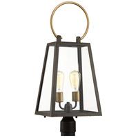 Spark & Spruce 24012-ABI Laurel 2 Light 27 inch Antique Bronze Outdoor Post lantern