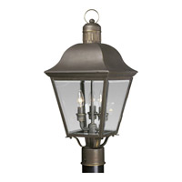 Spark & Spruce 23894-ABCB Winona 3 Light 21 inch Antique Bronze Outdoor Post Lantern