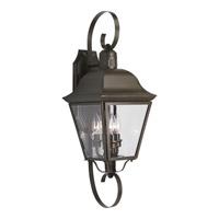 Spark & Spruce 23901-ABCB Winona 3 Light 26 inch Antique Bronze Outdoor Wall Lantern