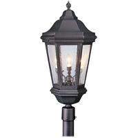 Spark & Spruce 23863-MBCS Clay 3 Light 34 inch Matte Black Post Lantern in Incandescent