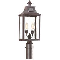Spark & Spruce 20177-OBCS Ash 2 Light 21 inch Old Bronze Post Lantern in Incandescent