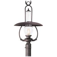 Spark & Spruce 20178-OBCS Frost 1 Light 27 inch Old Bronze Post Lantern