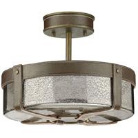 Spark & Spruce 24976-ABMR Idaho 4 Light 14 inch Aged Brass Semi-Flush Mount Ceiling Light Jeffrey Alan Marks Design Series