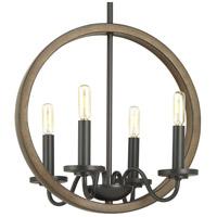 Spark & Spruce 24050-ABI Monteagle 4 Light 16 inch Antique Bronze Chandelier Ceiling Light, Design Series