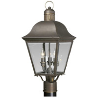 Spark & Spruce 23894-ABCB Winona 3 Light 22 inch Antique Bronze Outdoor Post Lantern