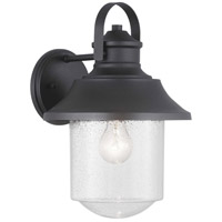 Spark & Spruce 24157-BCSI Saddletree 1 Light 15 inch Black Outdoor Wall Lantern