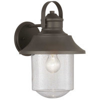 Spark & Spruce 24158-ABCS Saddletree 1 Light 15 inch Architectural Bronze Outdoor Wall Lantern
