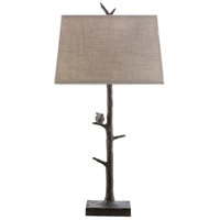 Spark & Spruce 20306-B Timber 32 inch 100 watt Bronze Table Lamp Portable Light