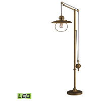 Spark & Spruce 20006-ABL Amos Mill 70 inch Antique Brass Floor Lamp Portable Light in LED